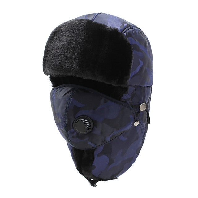 Men's Women's Hiking Cap Mask Beanie Hat 1 set Winter Outdoor Windproof Warm