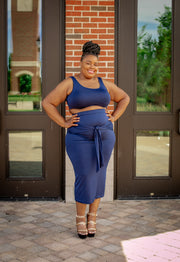 Simply Pretty Two Piece Set Navy (Ships July 15th)