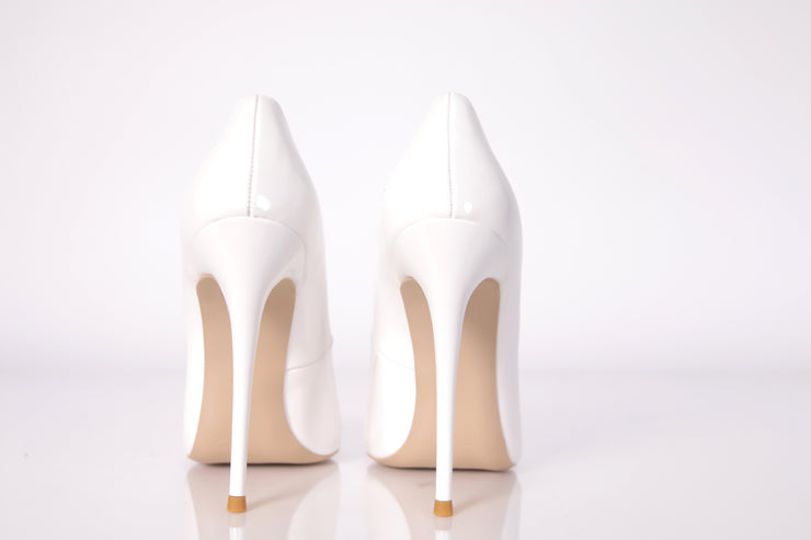 Classic Candace White Pointed Toe Pump