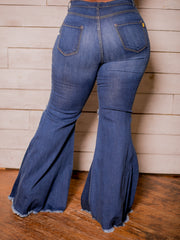 Flare Denim Jeans (Blue) Curvy