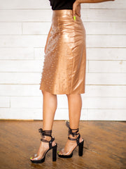 Beyond Basic Studded Pencil Skirt - Nude