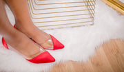 Rochelle Flats (Red) - FINAL SALE