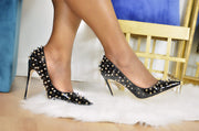Fatima Studded Pointed Toe Pump  Pre Order