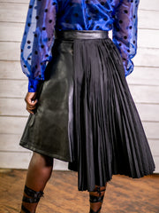 Please Me Pleated Midi Skirt