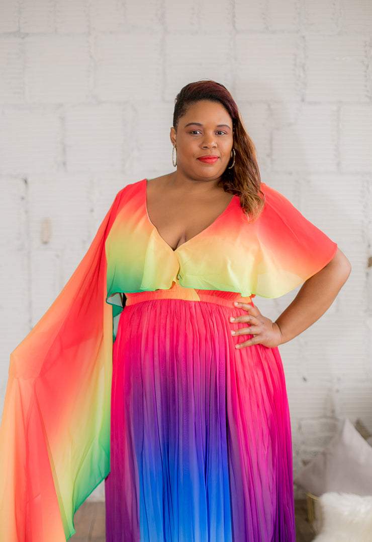 Rainbow Maxi Dress - Curvy