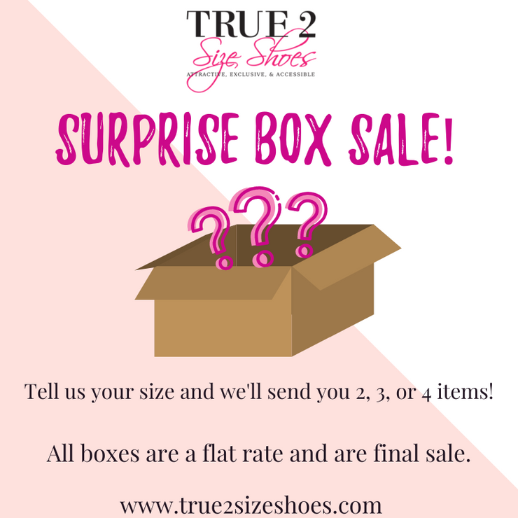 Surprise Box **PLEASE LEAVE SHOE SIZE & CLOTHING SIZE IN NOTES!!**