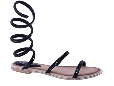 Colleen Sparkle Sandal (Black)