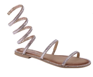 Colleen Sparkle Sandal (Rose gold)
