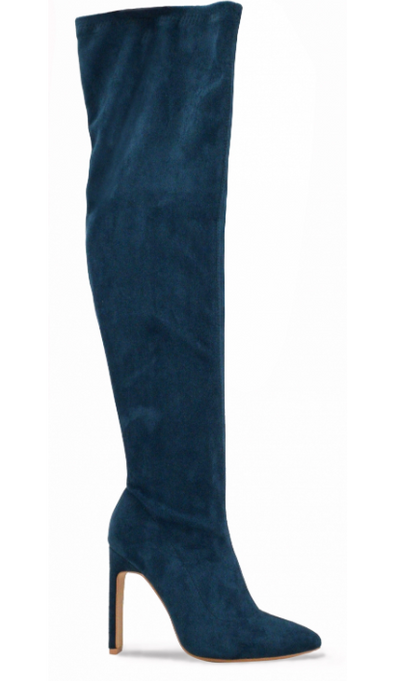 Carissa Over the Knee Heel Boot (Teal)