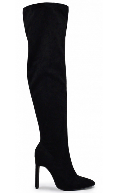 Carissa Over the Knee Heel Boot (Black)