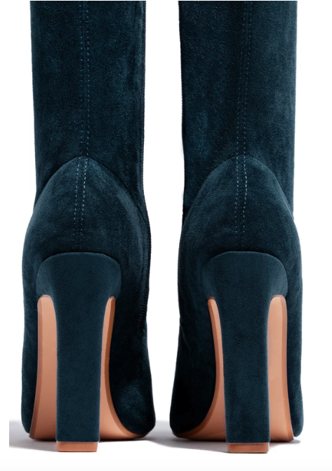 Carissa Over the Knee Heel Boot (Teal) FINAL SALE