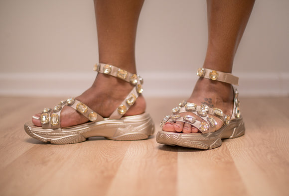 Jewel Sandal (Gold)