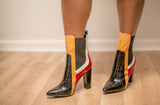 Gina Color Block Booties