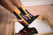 Gina Color Block Booties - FINAL SALE