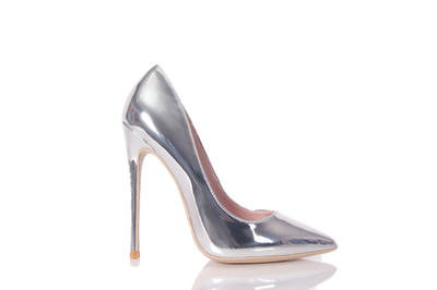 Classic Candace Silver Pointed Toe Pump