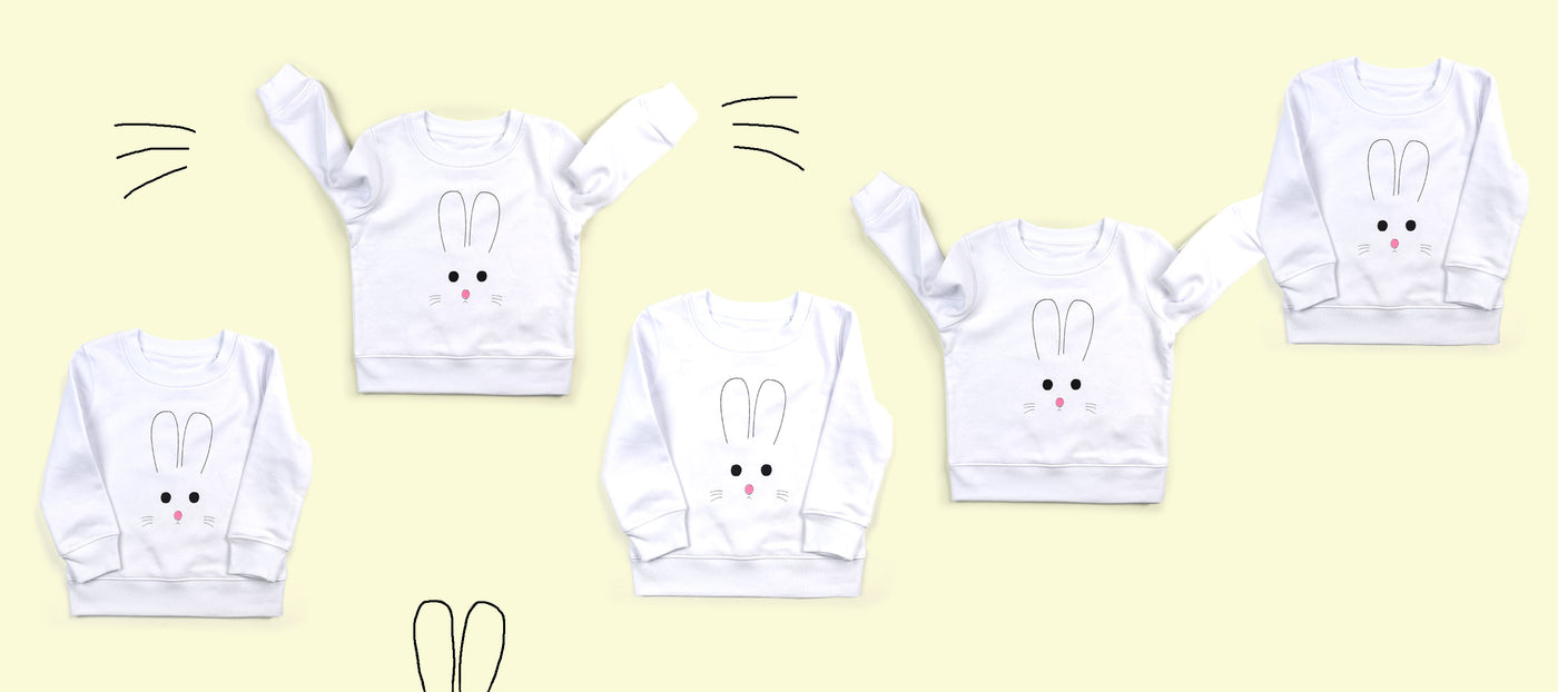 bunny face sweatshirts for Easter
