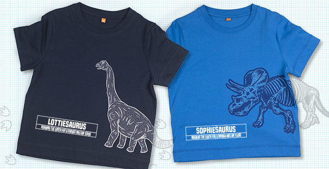 Brachi and Ceratops t-shirts