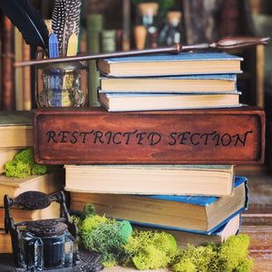 Restricted Section Wooden Sign