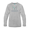 Maker Premium Long Sleeve T-Shirt - heather gray