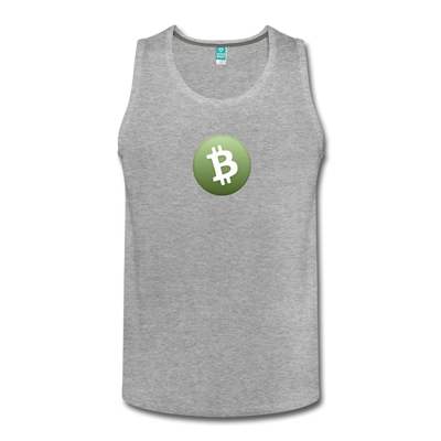 Bitcoin Cash Men's Premium Tank Top - heather gray