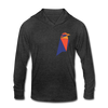 Ravencoin Unisex Tri-Blend Hooded Shirt - heather black