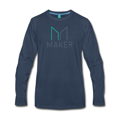 Maker Premium Long Sleeve T-Shirt - navy