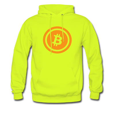 Bitcoin Hoodie - safety green