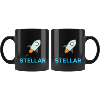 Classic Stellar Coffee Mug -- All Black - Sticky Crypto