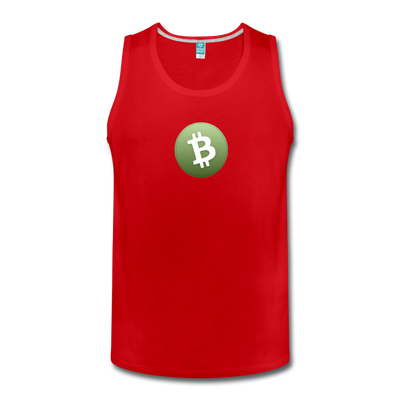 Bitcoin Cash Men's Premium Tank Top - red