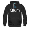 Qtum Premium Hooded Pull-Over Sweater - black