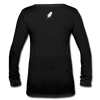 Stellar Lumens Women's Long Sleeve  V-Neck Flowy Tee - black