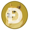Dogecoin Kiss Cut Stickers - Sticky Crypto