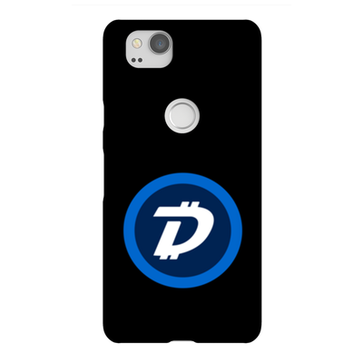 Digibyte Black Phone Case - Sticky Crypto
