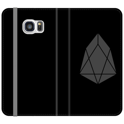 EOS Black Folio Phone Case - Sticky Crypto