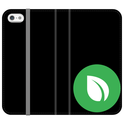 Peercoin Black Folio Phone Case