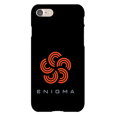Enigma Black Phone Case - Sticky Crypto