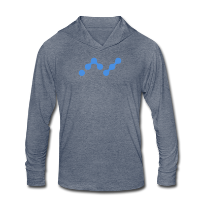 Nano Unisex Tri-Blend Hooded Shirt - heather blue