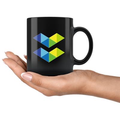 Elastos Coffee Mug -- All Black - Sticky Crypto