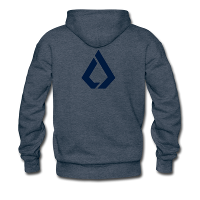 LISK Premium Hoodie - heather denim