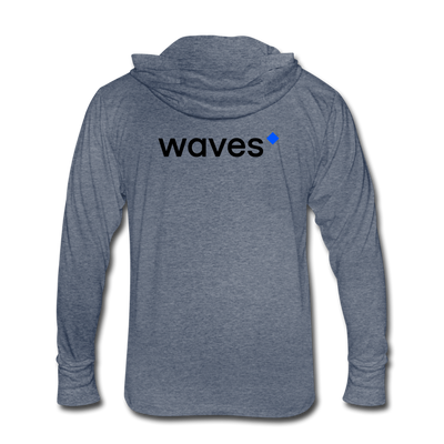 Waves Unisex Tri-Blend Hooded Shirt - heather blue