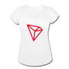 TRON Women's Tri-Blend V-Neck T-Shirt - white