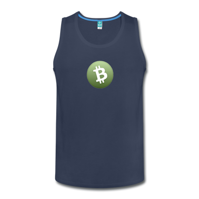 Bitcoin Cash Men's Premium Tank Top - navy