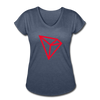 TRON Women's Tri-Blend V-Neck T-Shirt - navy heather