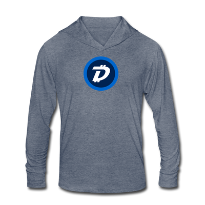 Digibyte Unisex Tri-Blend Hooded Shirt - heather blue
