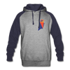 Ravencoin Colorblock Hooded Pull-Over Sweater - heather gray/navy