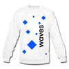 Waves Crewneck Sweatshirt - white