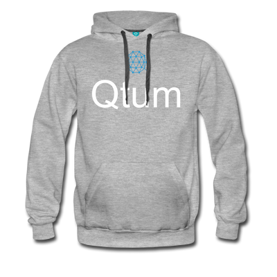 Qtum Premium Hooded Pull-Over Sweater - heather gray