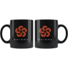 Enigma Coffee Mug -- All Black - Sticky Crypto