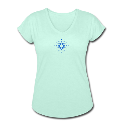 Cardono Women's Tri-Blend V-Neck T-Shirt - Sticky Crypto