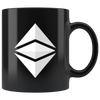 White Ethereum Coffee Mug -- All Black